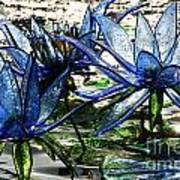 Glass Lilies Art Print
