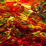 Glass Macro - Burning Embers Art Print