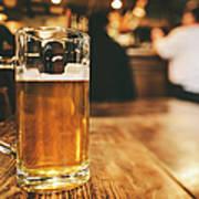 Glass Of Bier, Brewery In Germany Art Print