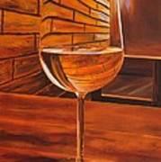 Glass Of Viognier Art Print