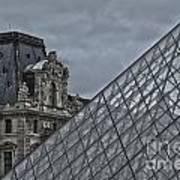 Glass Pyramid And Louvre Museum Paris Art Print