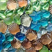 Glass Seashell Art Print