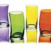 Glasses-rainbow Theme Art Print