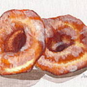 Glazed Donuts Art Print by Debi Starr