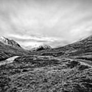 Glen Etive Road And River Art Print by John Farnan