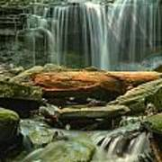 Glen Leigh River Rocks And Falls Art Print
