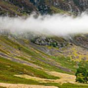 Misty Mountain Landscape Art Print