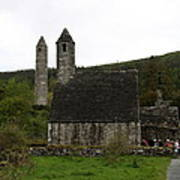 Glendalough Cloister Ruin - Ireland Art Print