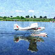 Gliding Between Two Worlds Art Print