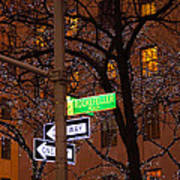 Glistening Branches On The Plaza Art Print