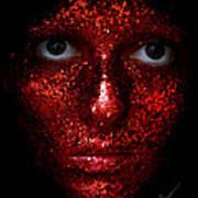 Glitter Face Art Print