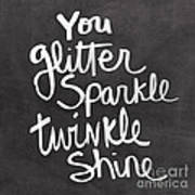 Glitter Sparkle Twinkle Art Print by Linda Woods