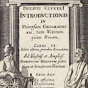 Globe With Two Scholars, Pieter Serwouters Art Print
