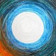 Glory Of The Moon At Dawn Art Print