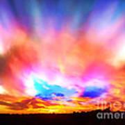 Glory Sunset Art Print