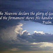 Glory To God   Psalm 10 1 Art Print