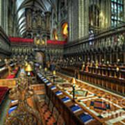 Gloucester Cathedral Choir Art Print