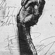 Glove Study Art Print by H James Hoff