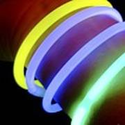 Glow-in-the-dark Bracelets Art Print