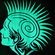 Glow In The Dark Tribal Punk Art Print