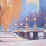 Glow On The Bridge Art Print