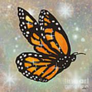 Glowing Butterfly Art Print