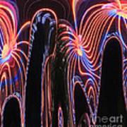 Glowing Curves Art Print