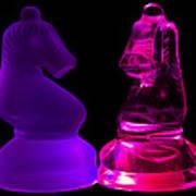Glowing Glass Knights Art Print