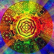 Glowing Mandala Art Print