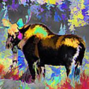 Electric Moose Art Print