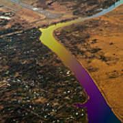 Glowing River. Rainbow Earth Art Print
