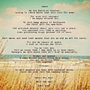 Glowing Soft Surf And Sand With Knots Poem Art Print
