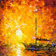 Glows Of Passion - Palette Knife Oil Painting On Canvas By Leonid Afremov Art Print