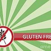 Gluten Free Banner Art Print