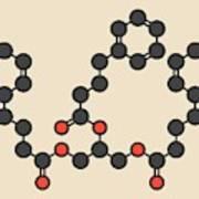 Glycerol Phenylbutyrate Drug Molecule Art Print