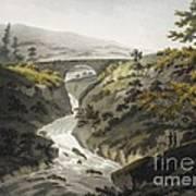 Glyn Diffwys Stone Bridge, Wales, 1800 Art Print