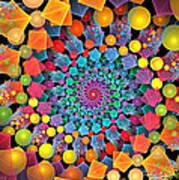 Glynnsims Spiral Fiesta Art Print