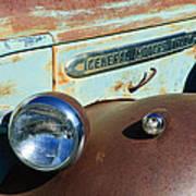 Gmc Truck Side Emblem Art Print