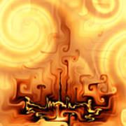 Gnarly Campfire Art Print