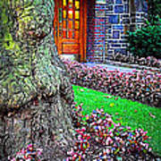 Gnarly Tree With Flowers Art Print