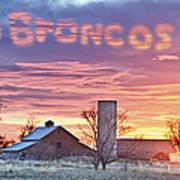 Go Broncos Colorado Country Art Print