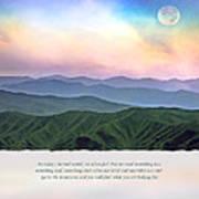 Go To The Mountains Art Print
