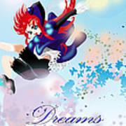 Go Up To Your Dream Art Print by Racquel Delos Santos