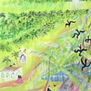 Goa, India, 1998 Oil On Paper Art Print