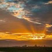 God Beams And Sunrise Art Print