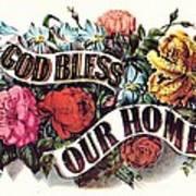 God Bless Our Home Art Print