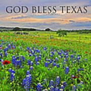 God Bless Texas  Art Print