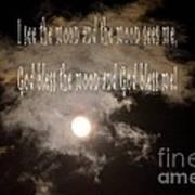 God Bless The Moon Art Print