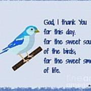 God I Thank You for This Day Art Print