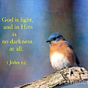 God Is Light Art Print